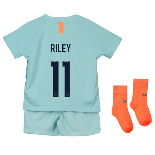 Chelsea Third Cup Stadium Kit 2018-19 - Infants with Riley 11 printing