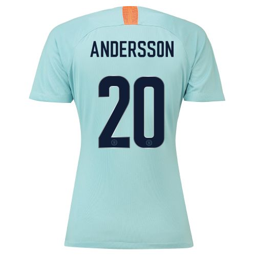 Chelsea Third Cup Stadium Shirt 2018-19 - Womens with Andersson 20 printing