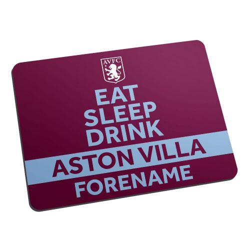 Aston Villa Personalised Eat Sleep Drink Mouse Mat