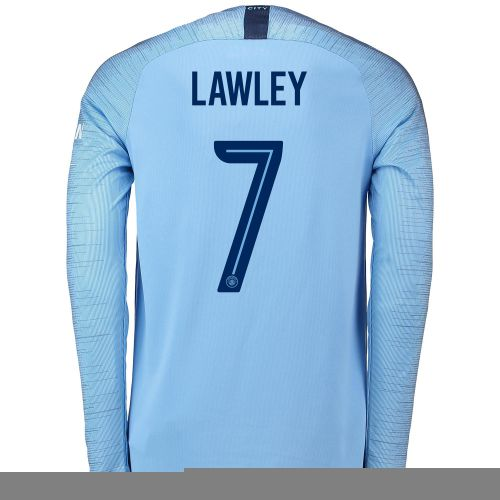 Manchester City Home Cup Stadium Shirt 2018-19 - Long Sleeve with Lawley 7 printing