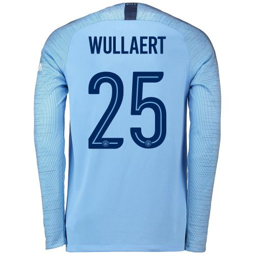 Manchester City Home Cup Stadium Shirt 2018-19 - Long Sleeve with Wullaert 25 printing