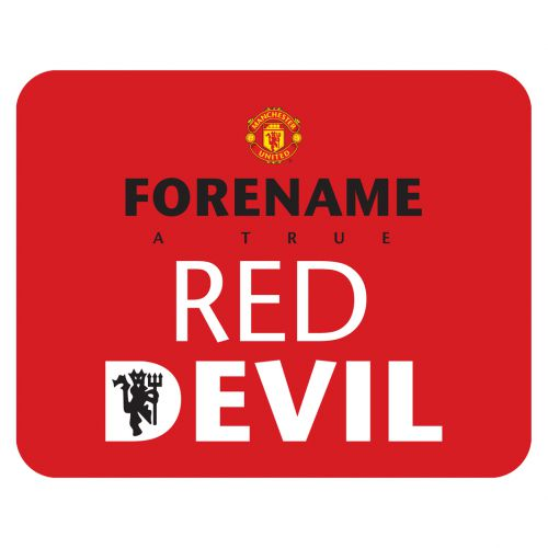 Manchester United Personalised Red Devils Mouse Mat - Red