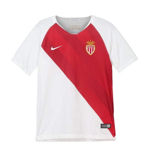 AS Monaco Home Stadium Shirt 2018-19 - Kids with Falcao 9 printing