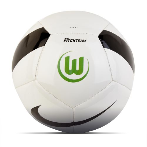 VfL Wolfsburg Pitch Football - White - Size 5