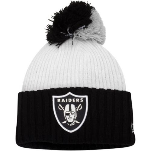 Зимна шапка New Era Mondo Pom Oakland Raiders