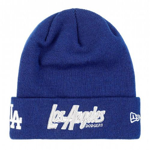 Зимна шапка New Era Cuff Scripter Los Angeles Dodgers