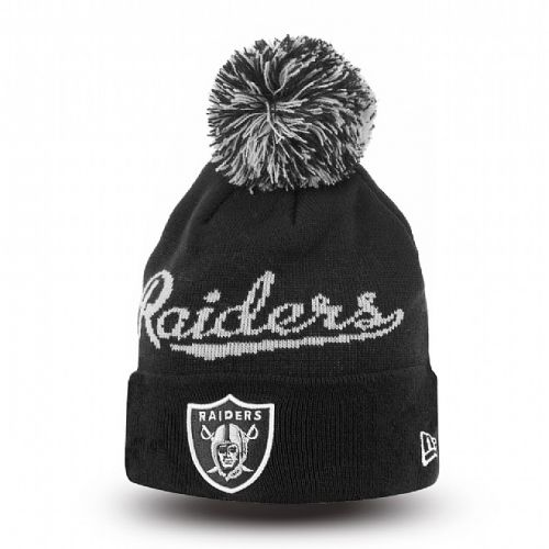 Зимна шапка New Era Bobble Script 2 Oakland Raiders