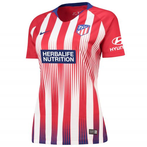 Atlético de Madrid Home Stadium Shirt 2018-19 - Womens with A. Sampedro 10 printing