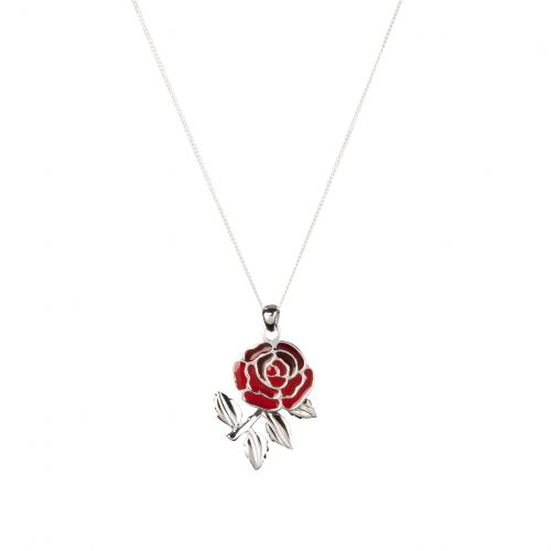England Red Rose Pendant and Chain