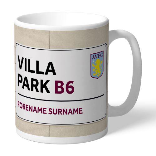 Aston Villa Personalised Street Sign Mug