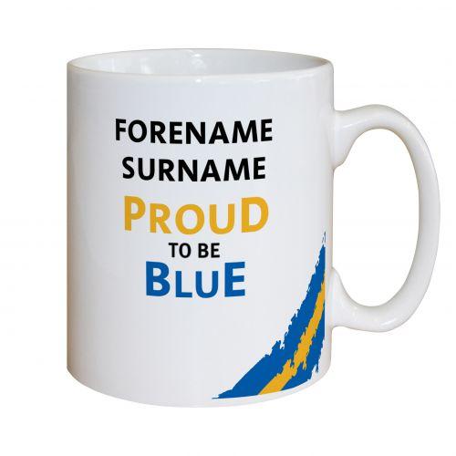 Everton Personalised Proud to be Blue Mug