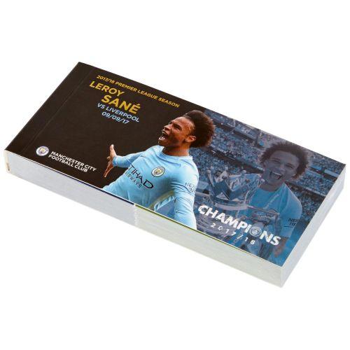 Manchester City 2017-18 Champions Leroy Sane Goal Flip Book