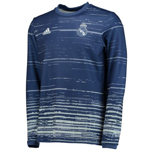 Real Madrid Home Pre Match Shirt - Navy - Long Sleeve