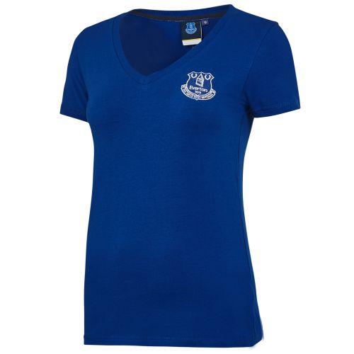 Everton Core Basic Crest Short Sleeve T-Shirt -Royal - Womens
