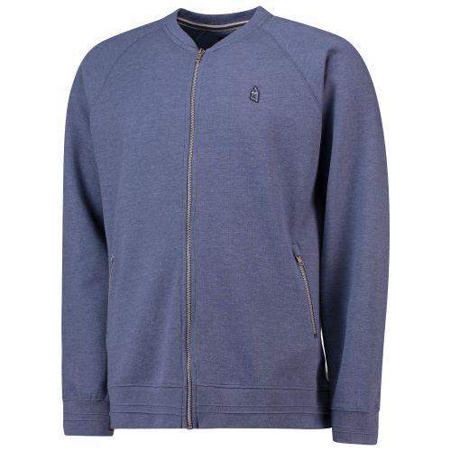Everton Terrace Baseball Collar Jacket - Denim Marl - Mens