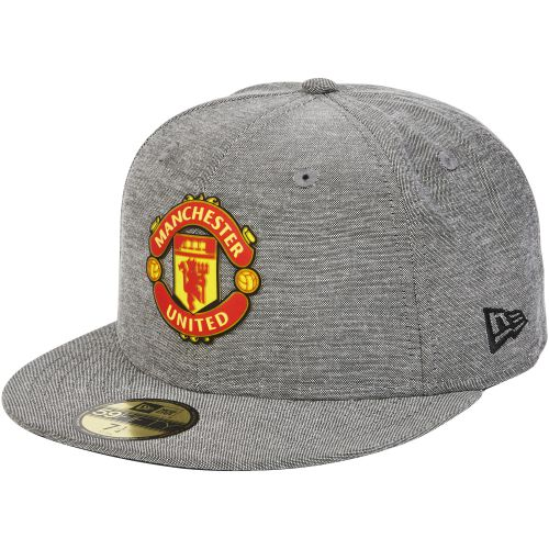 Manchester United New Era 59FIFTY Chambray Snapback Cap - Grey - Adult