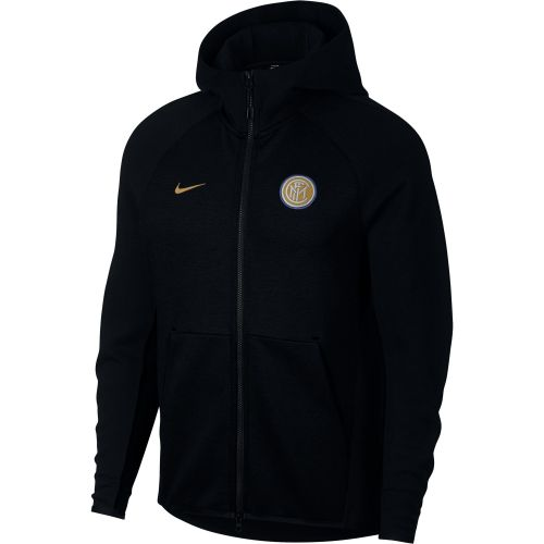 Inter Milan Authentic Tech Fleece Hoodie - Black