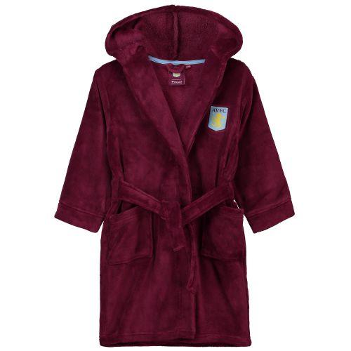 Aston Villa Fleece Robe- Claret - Girls