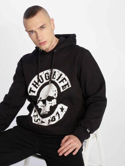 Thug Life / Hoodie B.Distress in black