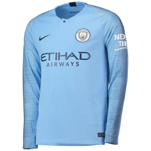 Manchester City Home Stadium Shirt 2018-19 - Long Sleeve with Mendy 22 printing