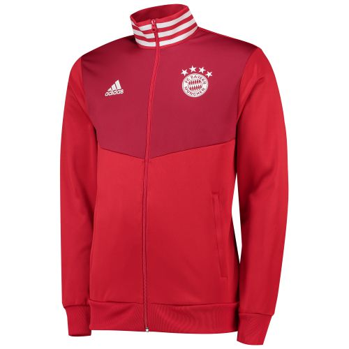 Bayern Munich 3 Stripe Track Top - Red