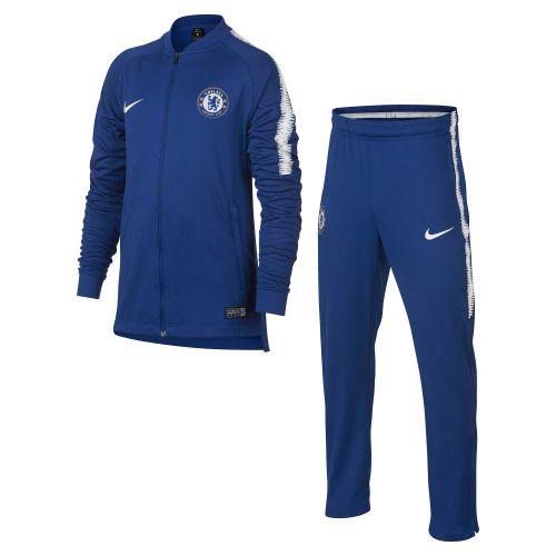 Chelsea Squad Knit Tracksuit - Blue - Kids