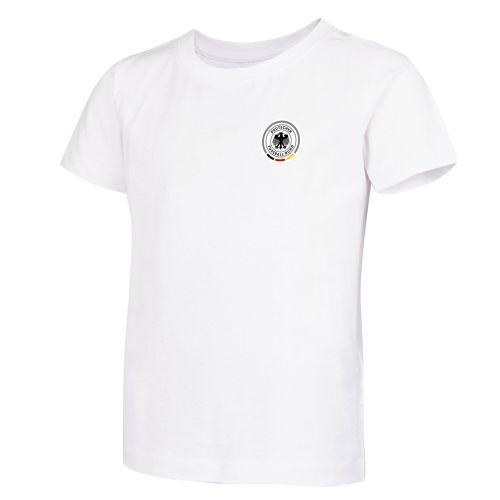 DFB Small CrestShort Sleeve T Shirt - White - Kids