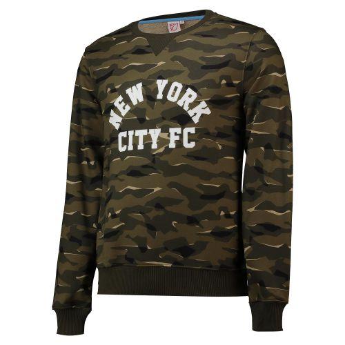 New York City FC Camo Crew Neck Sweatshirt - Khaki - Mens