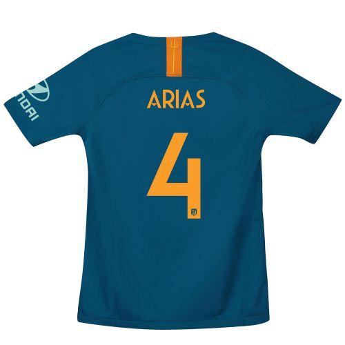 Atlético de Madrid Cup Third La Liga Stadium Shirt 2018-19 - Kids with Arias 4 printing
