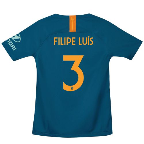 Atlético de Madrid Cup Third La Liga Stadium Shirt 2018-19 - Kids with Filipe Luis 3 printing