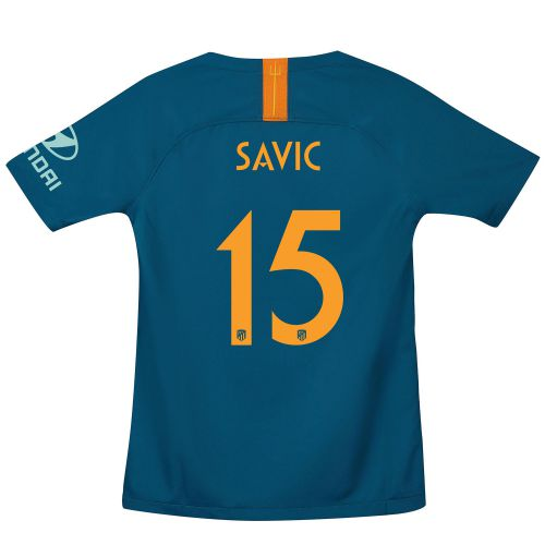 Atlético de Madrid Cup Third La Liga Stadium Shirt 2018-19 - Kids with Savic 15 printing