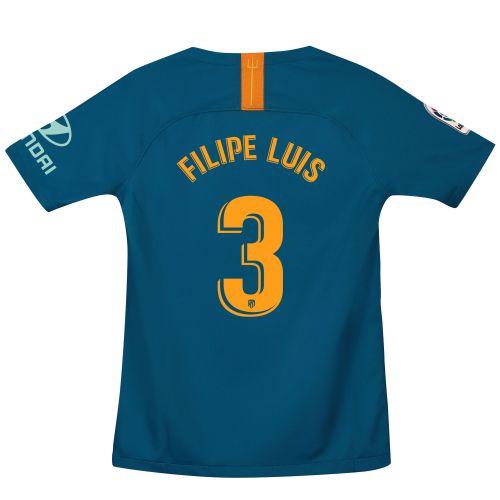 Atlético de Madrid Third Stadium Shirt 2018-19 - Kids with Filipe Luis 3 printing