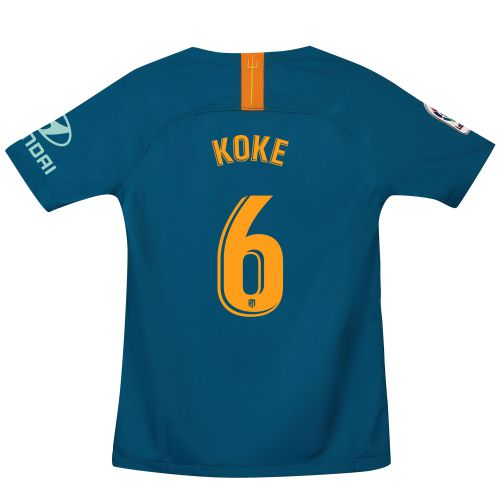 Atlético de Madrid Third Stadium Shirt 2018-19 - Kids with Koke 6 printing
