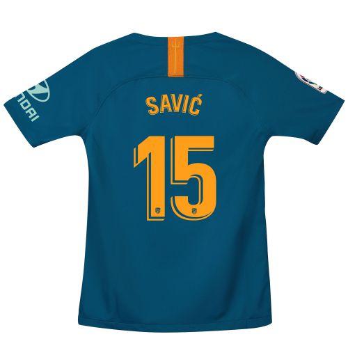 Atlético de Madrid Third Stadium Shirt 2018-19 - Kids with Savic 15 printing