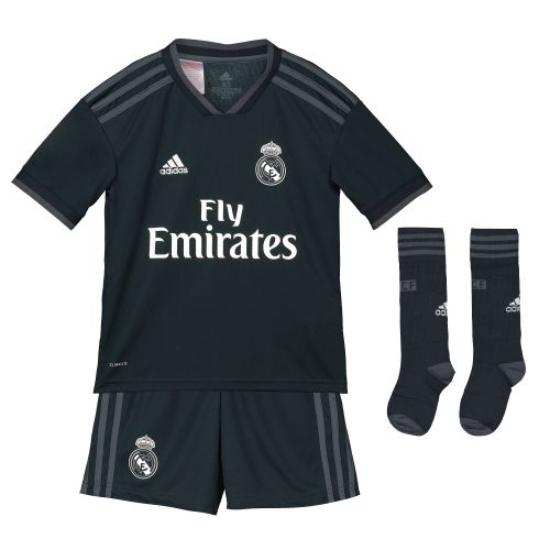 Real Madrid Away Kids Kit 2018-19 with M. Llorente 18 printing