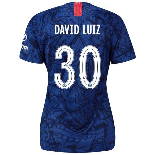 Chelsea Home Cup Stadium Shirt 2019-20 - Womens with David Luiz 30 printing