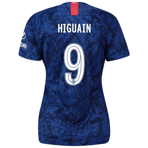Chelsea Home Cup Stadium Shirt 2019-20 - Womens with Higuain 9 printing