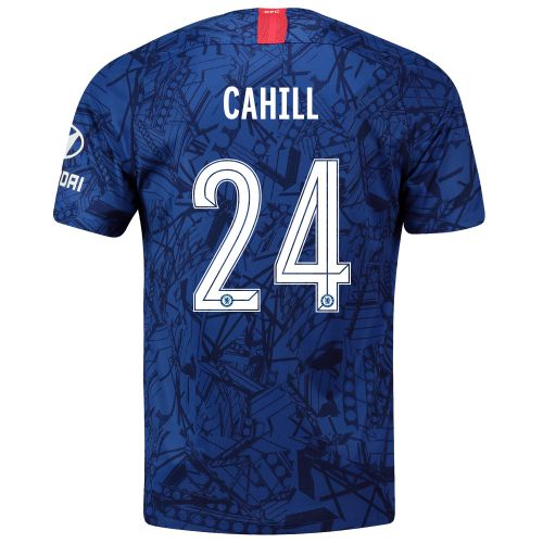 Chelsea Home Cup Stadium Shirt 2019-20 with Cahill 24 printing