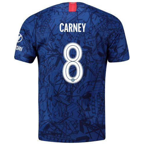 Chelsea Home Cup Stadium Shirt 2019-20 with Carney 8 printing