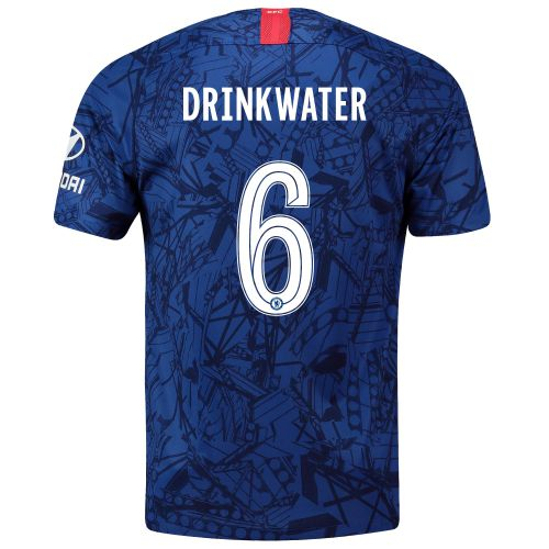 Chelsea Home Cup Stadium Shirt 2019-20 with Drinkwater 6 printing