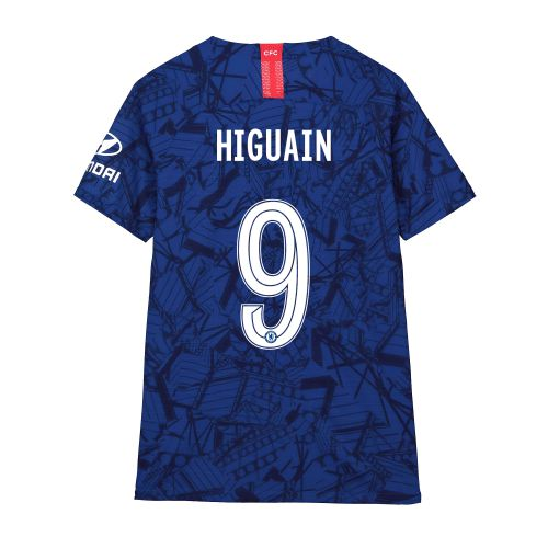 Chelsea Home Cup Vapor Match Shirt 2019-20 - Kids with Higuain 9 printing