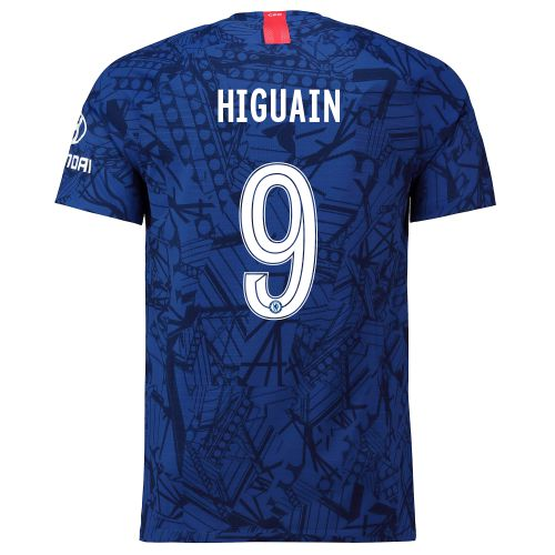 Chelsea Home Cup Vapor Match Shirt 2019-20 with Higuain 9 printing