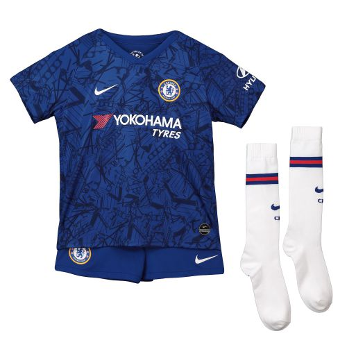 Chelsea Home Stadium Kit 2019-20 - Little Kids with David Luiz 30 printing