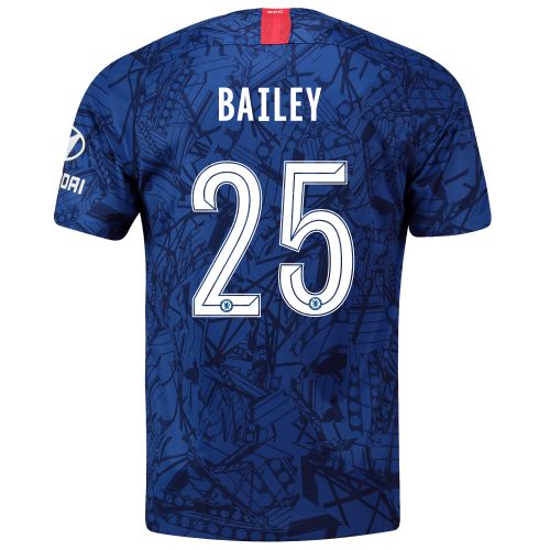 Chelsea Home Cup Stadium Shirt 2019-20 with Bailey 25 printing