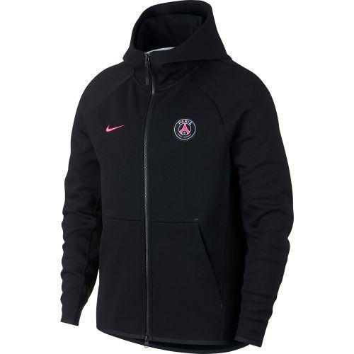 Paris Saint-Germain Authentic Tech Fleece Hoodie - Black
