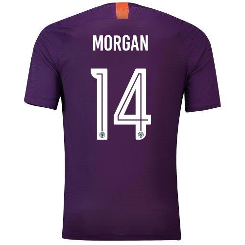 Manchester City Third Cup Vapor Match Shirt 2018-19 with Morgan 14 printing