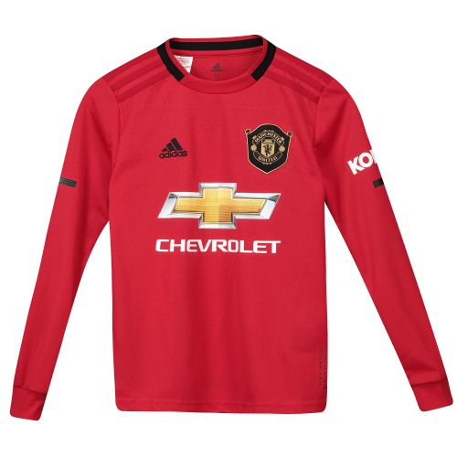 Manchester United Home Shirt 2019 - 20 - Kids - Long Sleeve with Pogba 6 printing