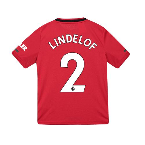 Manchester United Home Shirt 2019 - 20 - Kids with Lindelof 2 printing