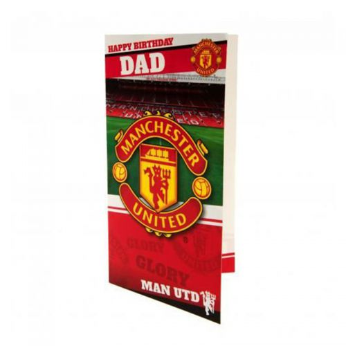 Картичка MANCHESTER UNITED Birthday Card Dad