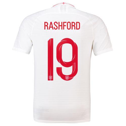 England Home Vapor Match Shirt 2018 with Rashford 19 printing